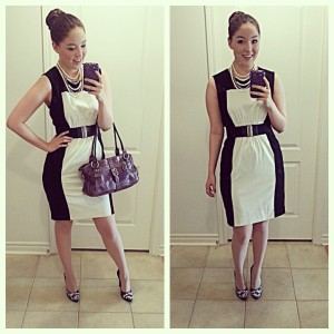 [Details: black and white Calvin Klein Dress from Marshalls]