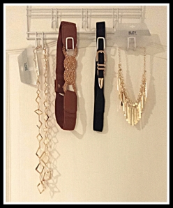 [Necklaces from Suzy Shier and belts from L.A Express]
