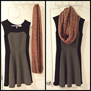 [ Dress from Smart Set and scarf unknown ]