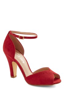 Modcloth Fine Dining Heel in Rouge