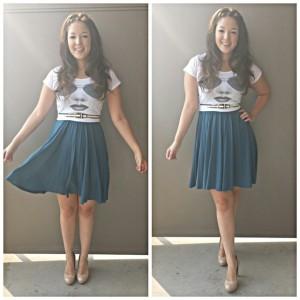 blue dress skirt