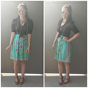 floral dress skirt