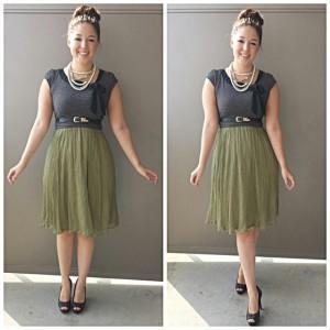 green dress skirt