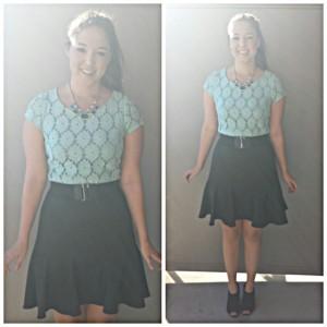 mint dress layered