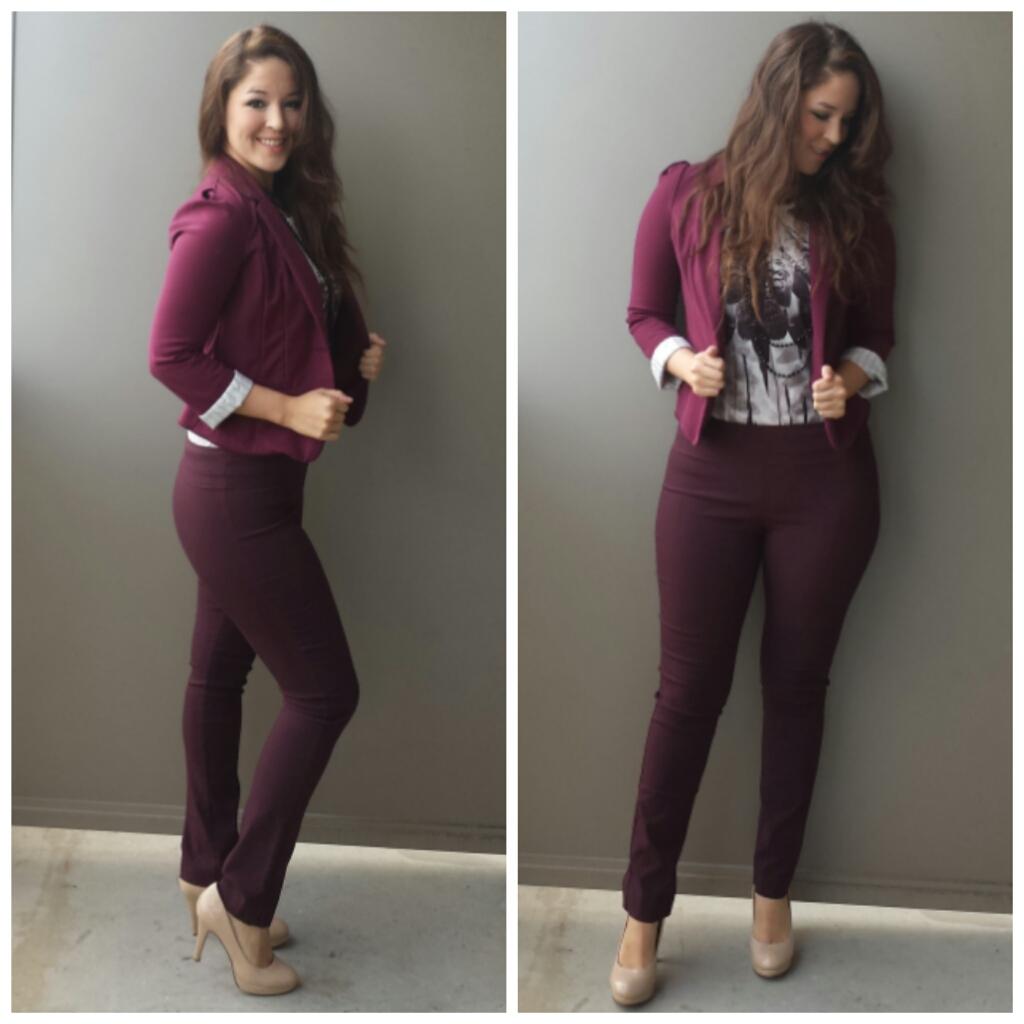 Maroon Blazer Womens - Trendy Clothes