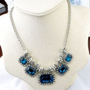Tiana Blue Gem Necklace