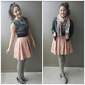 polka dot dress outfit