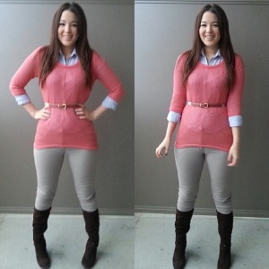 layered sweater outfit  5