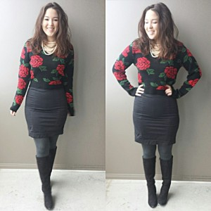 skirt sweater outfit 7