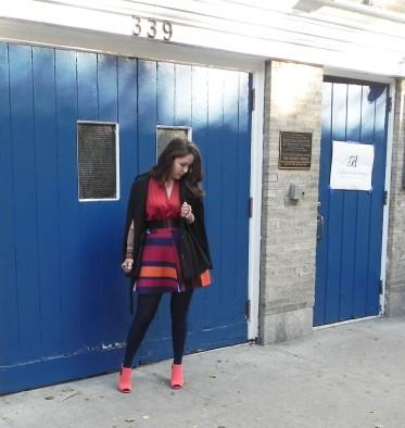 Orange outfit NY
